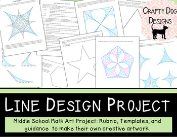 Line Design Project Middle School Math End Of Year Project Tpt