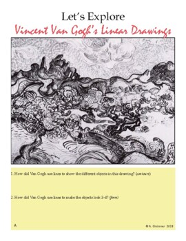 Art - Line/Dot Drawing Introduction Presentation & Unit 6-8 grade