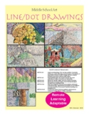 Art - Line/Dot Drawing Introduction Presentation & Unit 6-8 grade