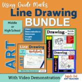 BEGINNER LINE DRAWING ART BUNDLE/Middle or High School Art