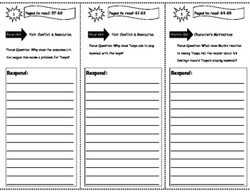Line Drive Storytown Comprehension Trifold