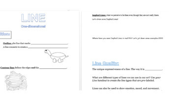 Line-Element of Art-Lesson plan and resources