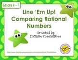 Comparing Rational Numbers Line 'Em Up Game