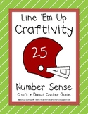 Football Craft + Number Sense Activity