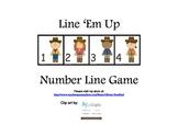 Number Line Game 1-20- Line 'em up