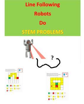 Line Following Robots Do STEM Problems