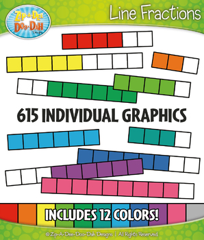 Line Fractions Clipart Set – Includes 615 Graphics!