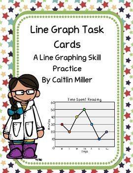 Line Graph Task Cards Freebie