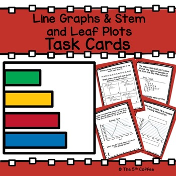 Line Graph and Stem-and-Leaf Plot Task Cards