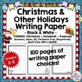 Christmas Writing Paper Set Hanukkah, Kwanzaa - 100 Holiday Writing Papers!