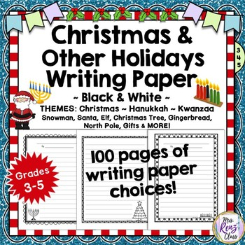 Writing Paper Set Christmas & Winter Graphics and Various