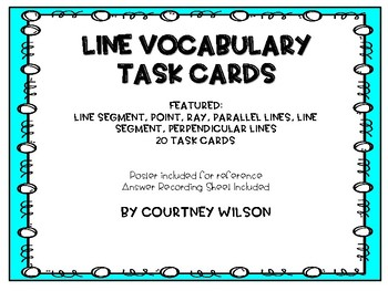 Line Identification and Vocab Task Cards