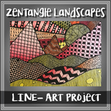 Line - Introductory PowerPoint | Zentangle Landscapes