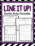 Line It Up! Number Order Cut & Paste K.CC.A