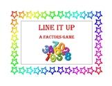 Line It Up - a Factors Math Game