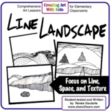 Art Lesson Line Landscape Math Integrated