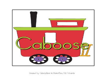Line Leader & Caboose w/ Train Clip Art-- Use as Floor Tiles or Student Tags