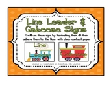 Line Leader & Caboose w/ Train Clip Art-- Use as Floor Til