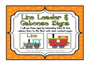 Line Leader & Caboose w/ Train Clip Art-- Use as Floor Til