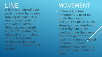 Line & Motion Lesson and PowerPoint