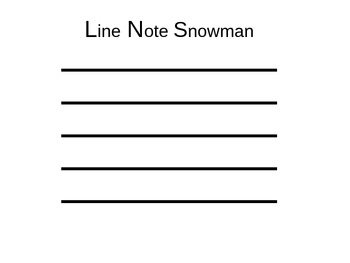 Line Note and Space Note Snowmen Activity