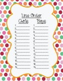 Line Order List