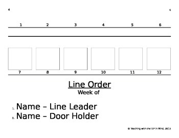 Turn-Taking and Line Order Visual Supports