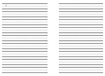 Lined Paper - Split, Landscape