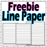 Line Paper Writing Freebie