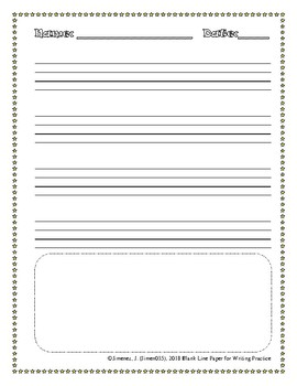 Line Paper for Writing Practice