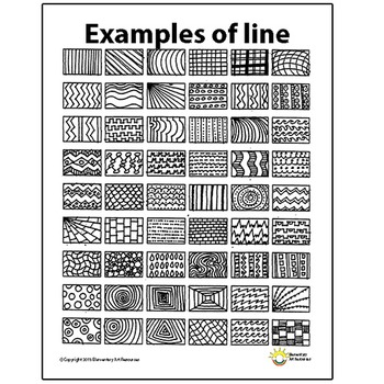 Line Pattern Handout One Page Elements of Art Principles of Design Visual Arts