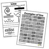 Line Pattern Handout Two Page Elements of Art Principles of Design Visual Arts