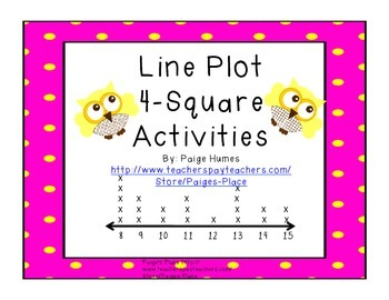Line Plot 4-Square Activities