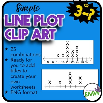 Line Plot Clip Art - 25 graphs ready for you to title and label