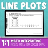 Line Plot Digital Math Notes