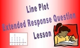 Line Plot Extended Response Question or Open Response Ques