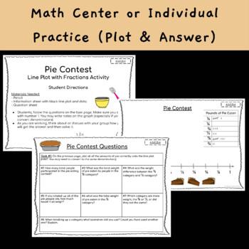 Line Plot - Fractions {Pie Day}