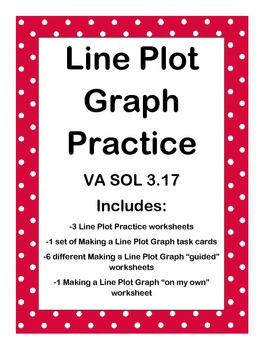 Line plot graph practice packet va sol 317 by bevin arnold tpt line plot graph practice packet va sol 317 stopboris Images