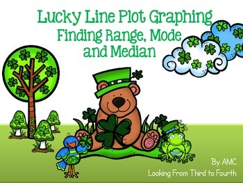 Line Plot Graphing - Finding Range, Mode and Median