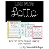 Line Plot Lotto   Measurement to the Nearest Quarter Inch