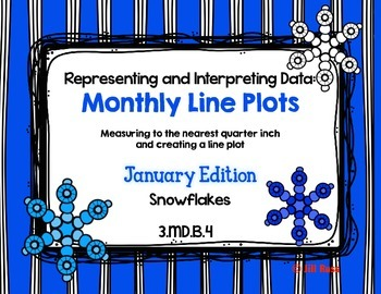 Line Plot Math Center Task Cards January #2: Measure & Int