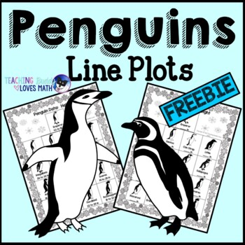 Penguins Line Plots Math Pack 2nd 3rd 4th 5th Grades Common Core