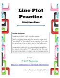 Line Plot Practice - Plotting data on Open Number Lines