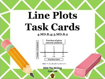 Line Plot Task Cards:  4.MD.B.4; 5.MD.B.2