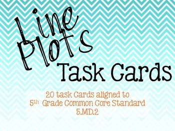 Line Plot Task Cards - 5.MD.2