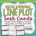 Line Plot Task Cards ( Fractions & Whole Numbers )