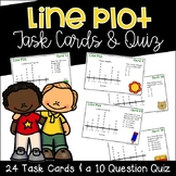 Line Plot Task Cards and Quiz
