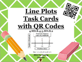 Line Plot Task Cards with QR Codes  4.MD.B.4; 5.MD.B.2