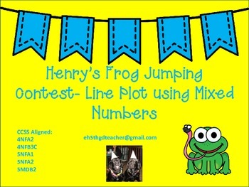 Line Plot Using Mixed Numbers: Henry's Frog Jumping Contest