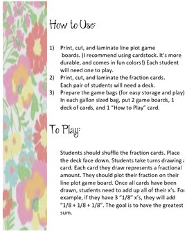 Line Plot WAR Card Game by Fumbling Thru Fifth | TpT